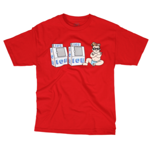 Ice Ice Baby on Red T-Shirt