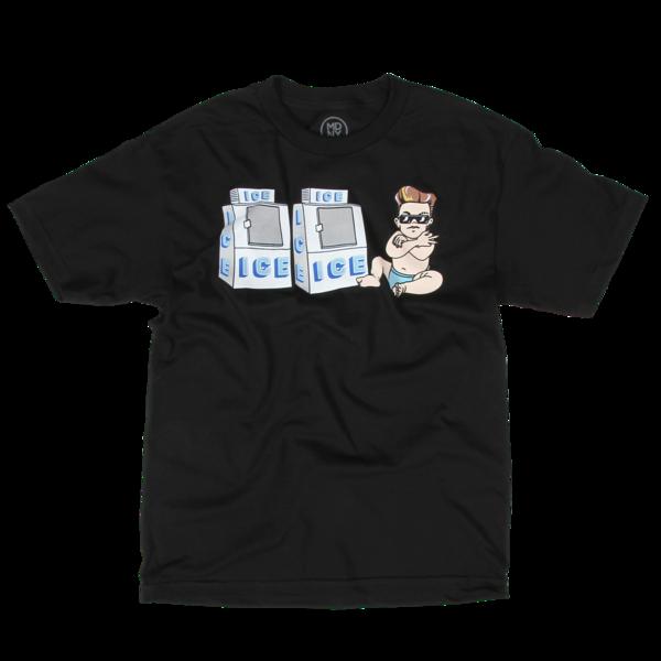 Ice Ice Baby on Black T-Shirt