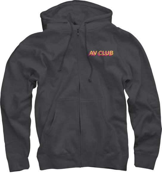 AVC on Charcoal Grey Zip Up Hoodie