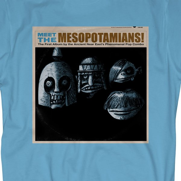 Meet the Mesopotamians On Unisex Blue T-Shirt