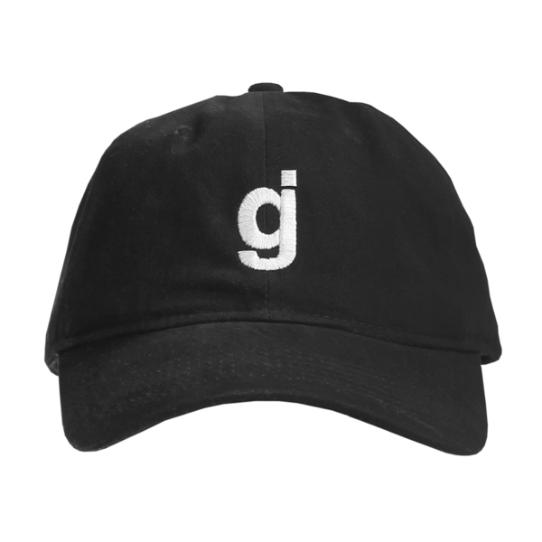 GJ Black Dad Hat