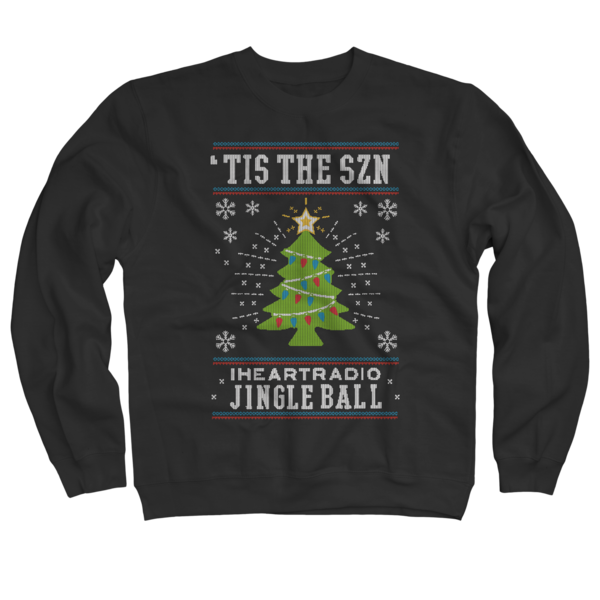 2017 Jingle Ball Tour Black Holiday Sweater