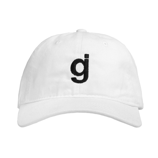 GJ White Dad Hat