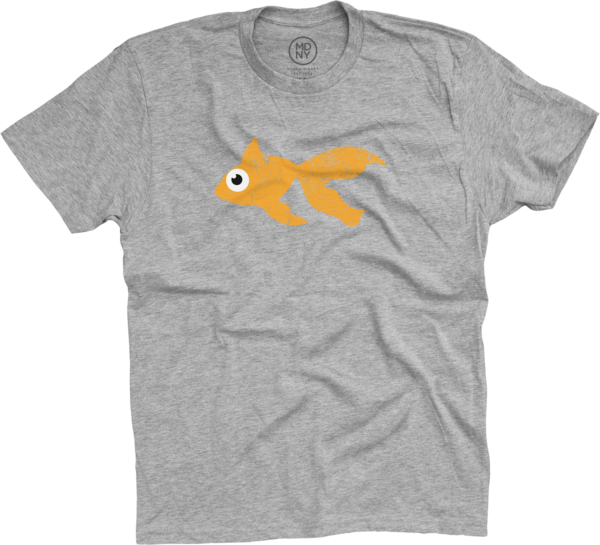 Blinky Tee - Orange / Heather Grey
