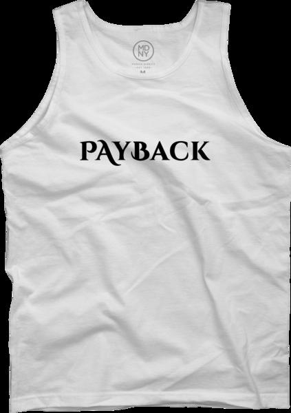 Payback White Tank Top