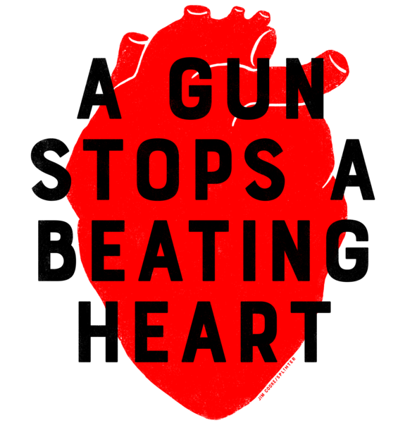 A Gun Stops A Beating Heart Downloadable Print