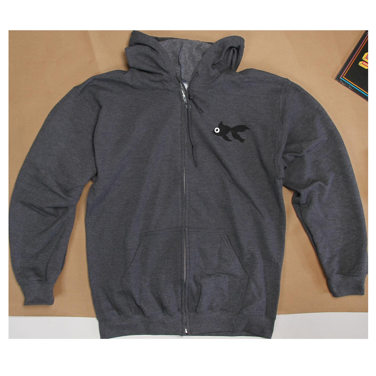 Grey Blinky Zip Up Sweatshirt