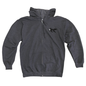 Grey Blinky Zip Up Sweatshirt