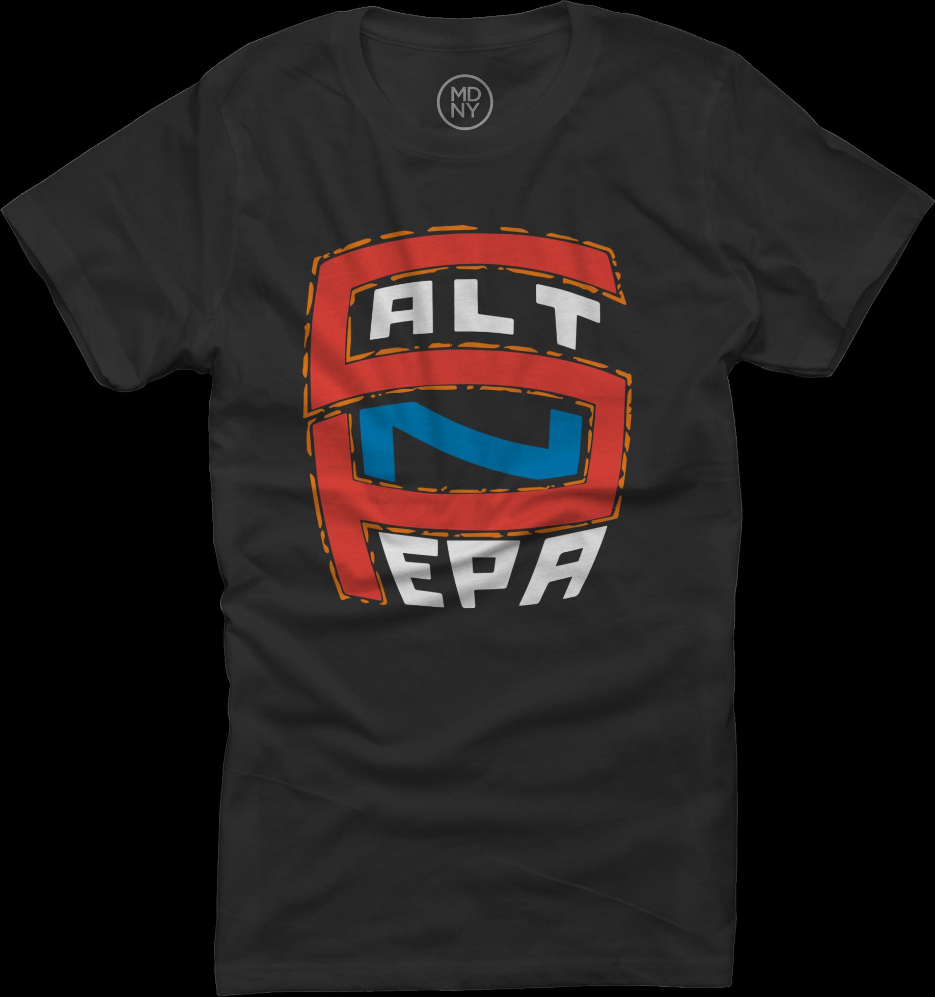 Logo Womens Black T-Shirt