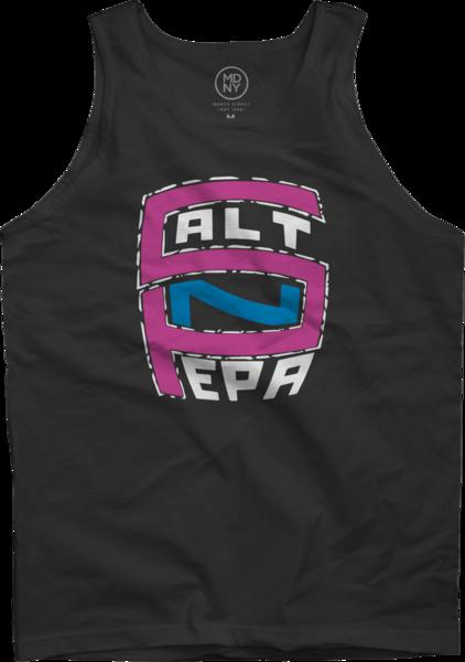 Pink & Blue Logo Tank Top