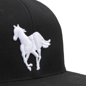 White Pony Black Snapback