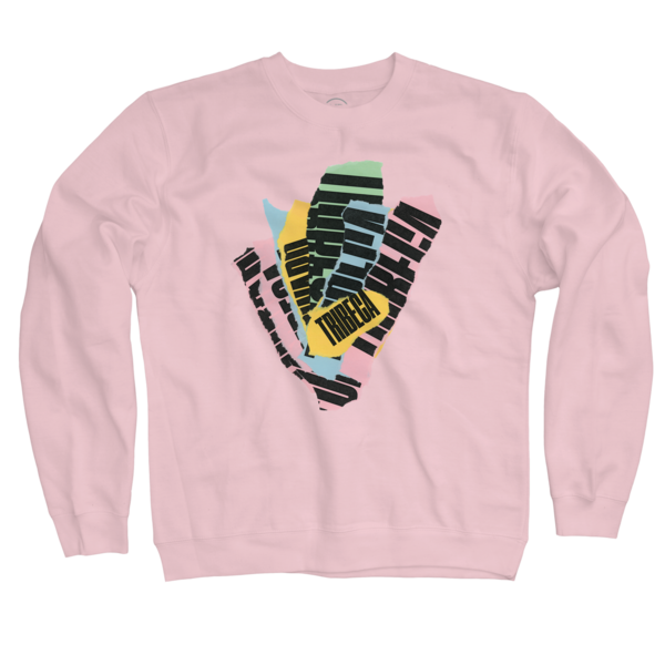 2018 Tear Crewneck On Pink