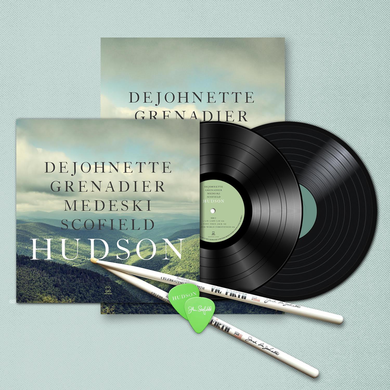 Hudson 180-gram Vinyl LP / Signed Poster / Guitar Pics / Drumsticks bundle
