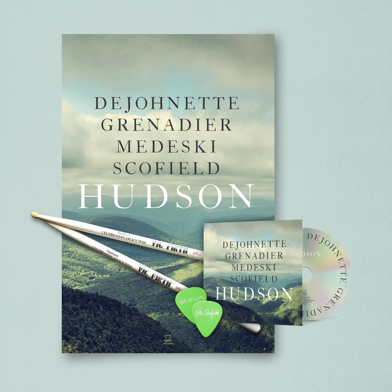 Hudson CD / Guitar Pics / Drumsticks bundle