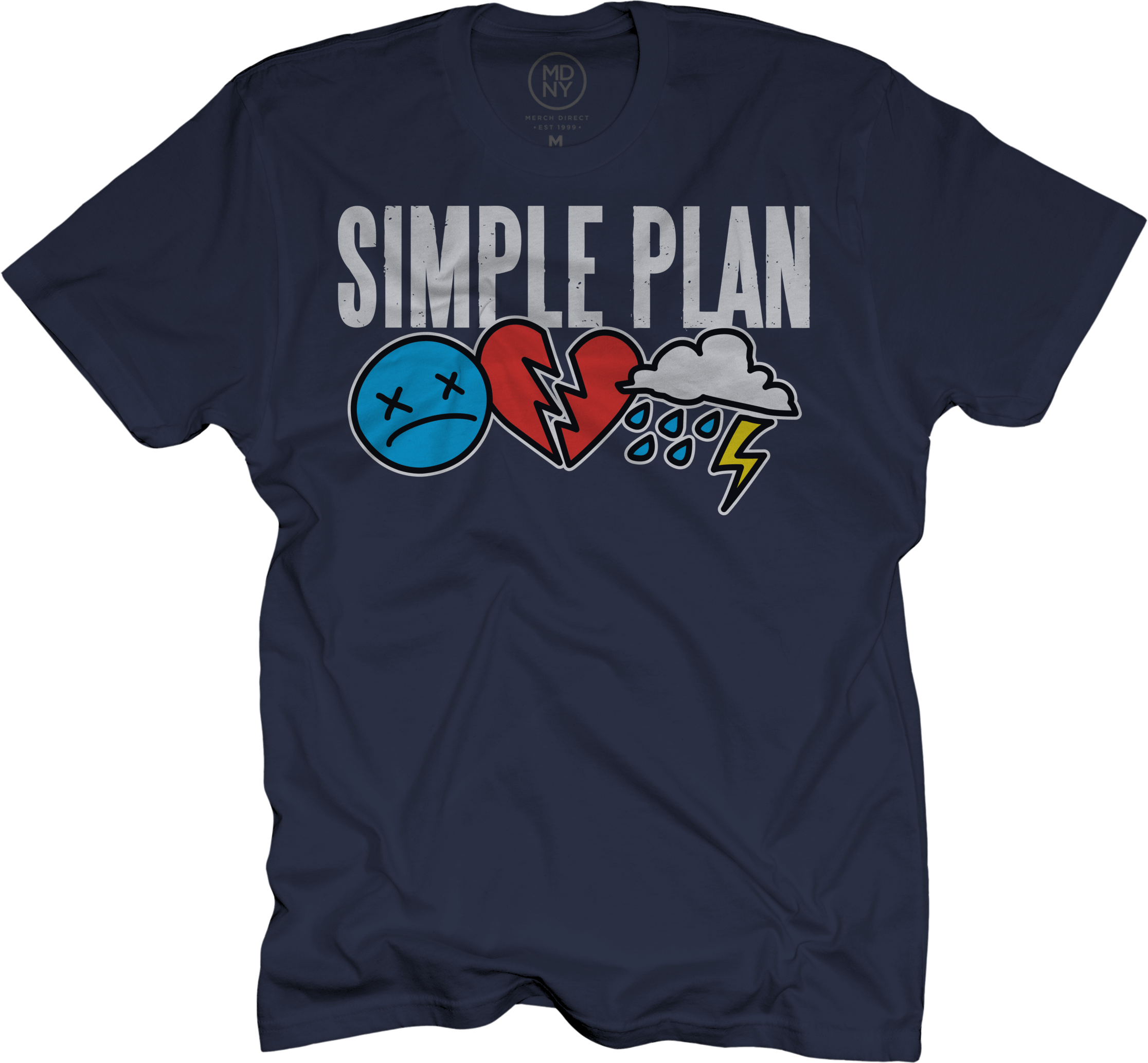 Triple Logo Navy T-Shirt