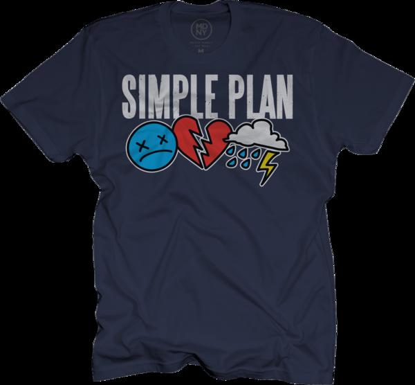 Triple Logo Navy T-Shirt