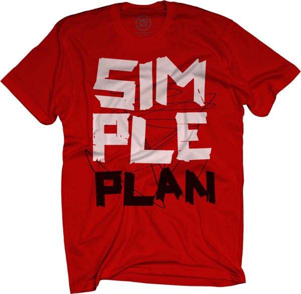 Simple Plan Tape on Red