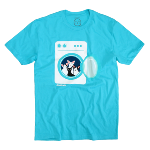 Dobbikats - Laundry On Blue T-Shirt