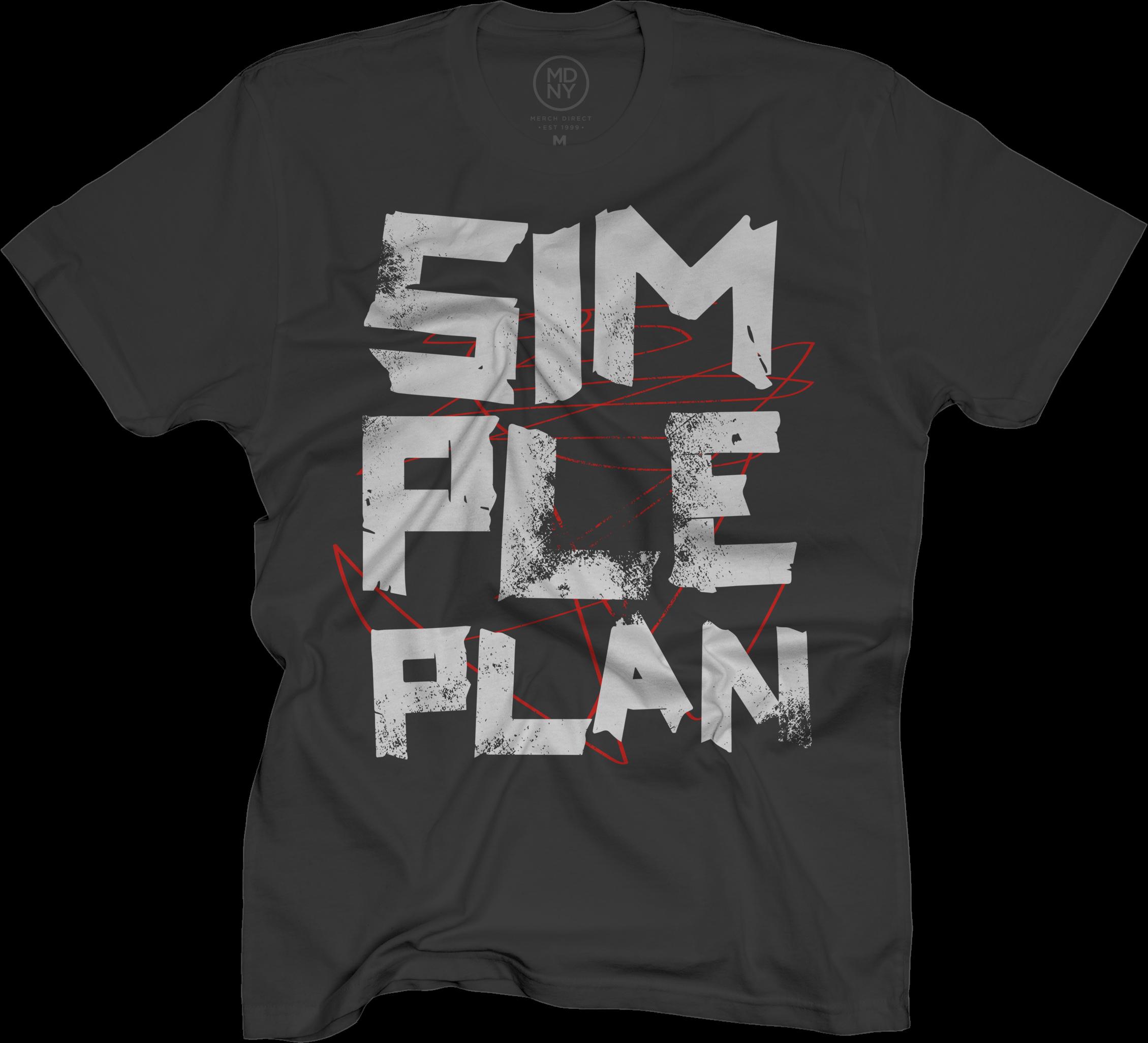 Simple Plan Tape Scratch on Black