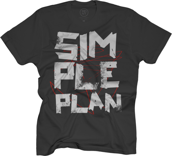 Simple Plan Tape Scratch on Black