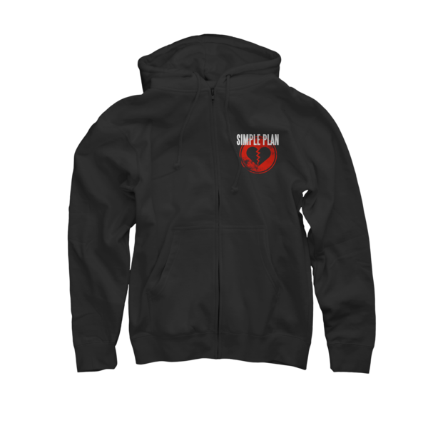 Broken Heart Icon Zip-Up