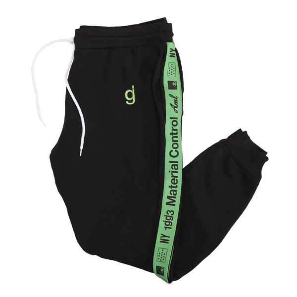 Material Control Green Piping Black Jogger