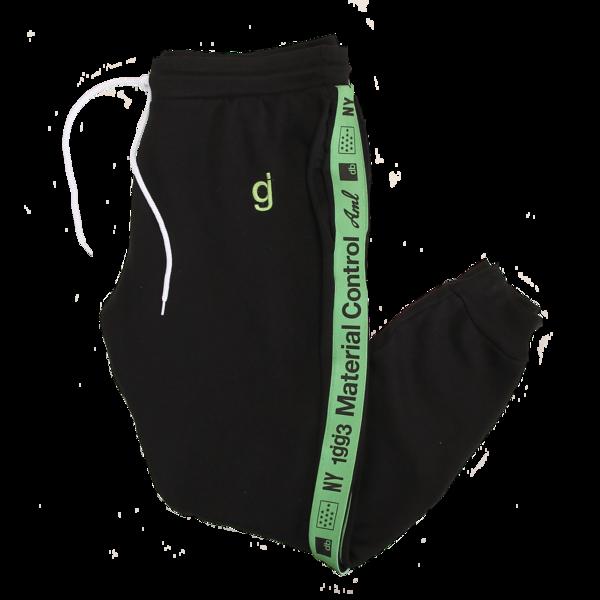 Material Control Green Piping Black Jogger