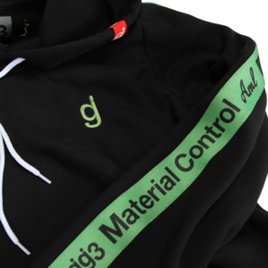 Material Control Green Piping Black Pullover