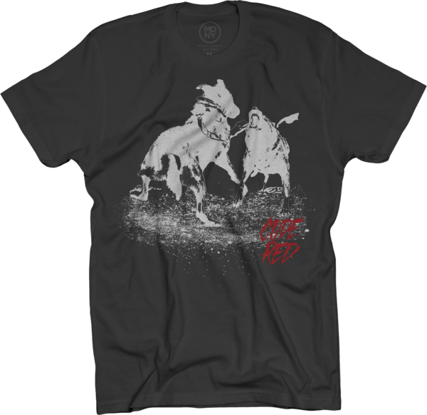 Code Red Dog Fight on Black T-Shirt