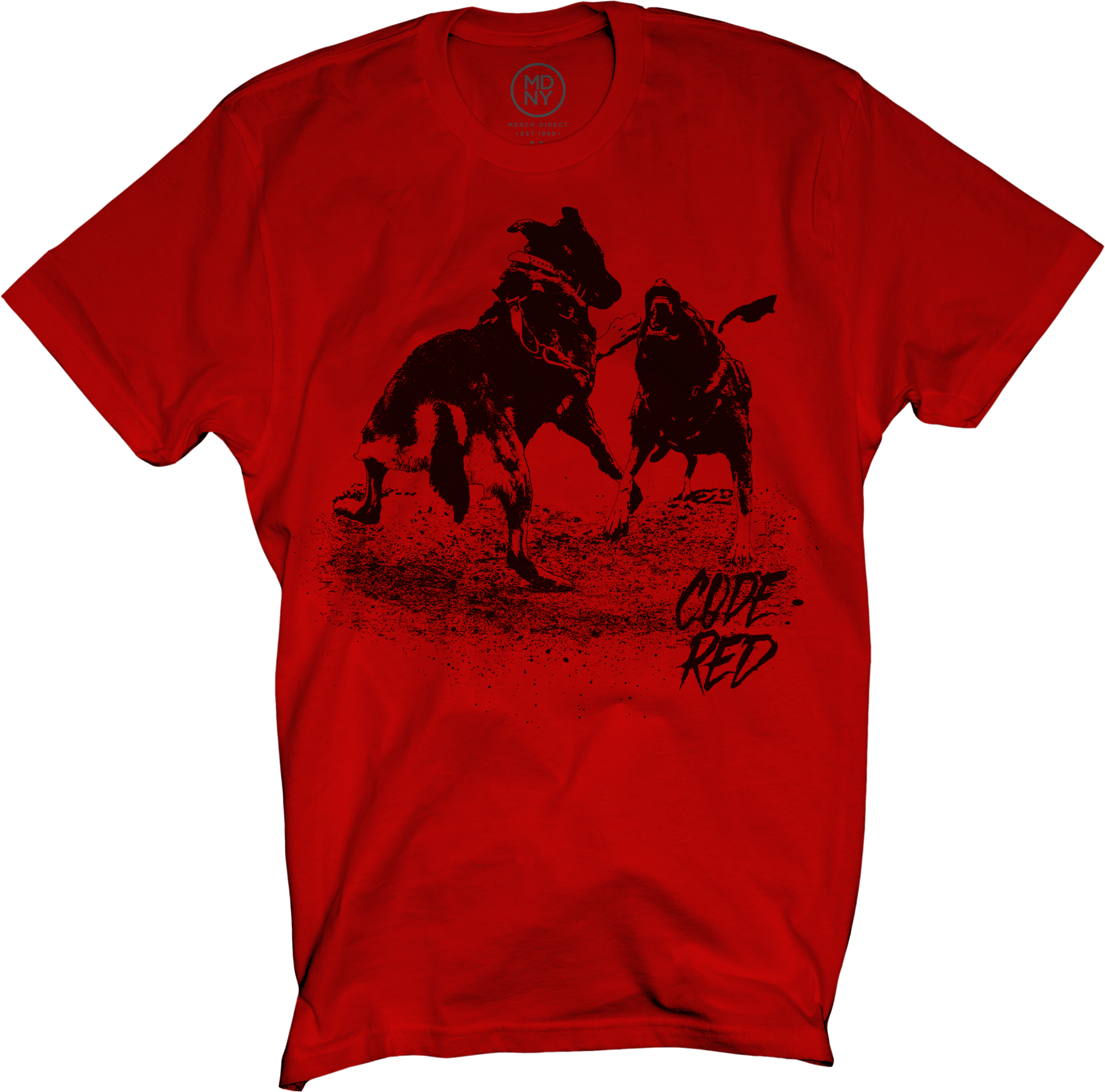 Code Red Dog Fight on Red T-Shirt