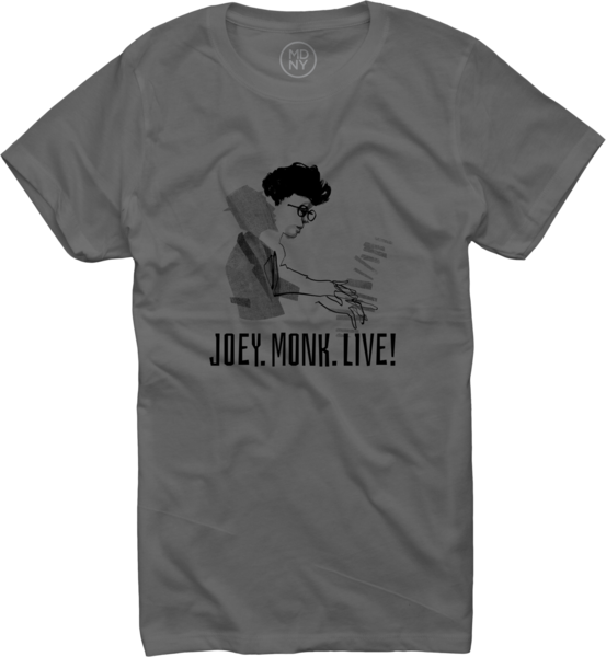 JOEY ALEXANDER - JOEY.MONK.LIVE! T-Shirt (womens) Asphalt