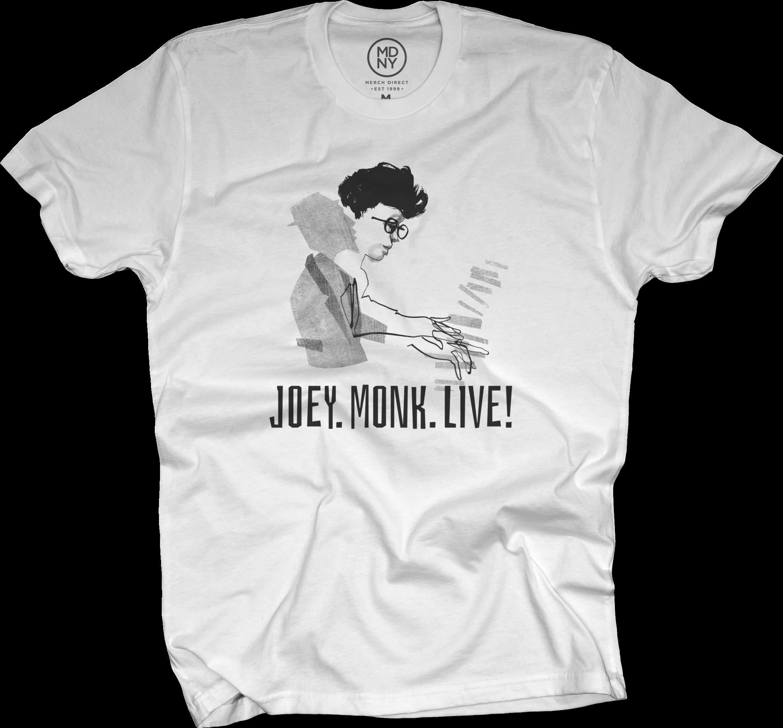 JOEY ALEXANDER - JOEY.MONK.LIVE! T-Shirt (mens) White