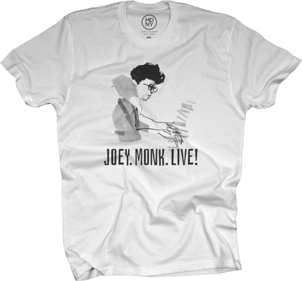 JOEY ALEXANDER - JOEY.MONK.LIVE! T-Shirt (mens) White