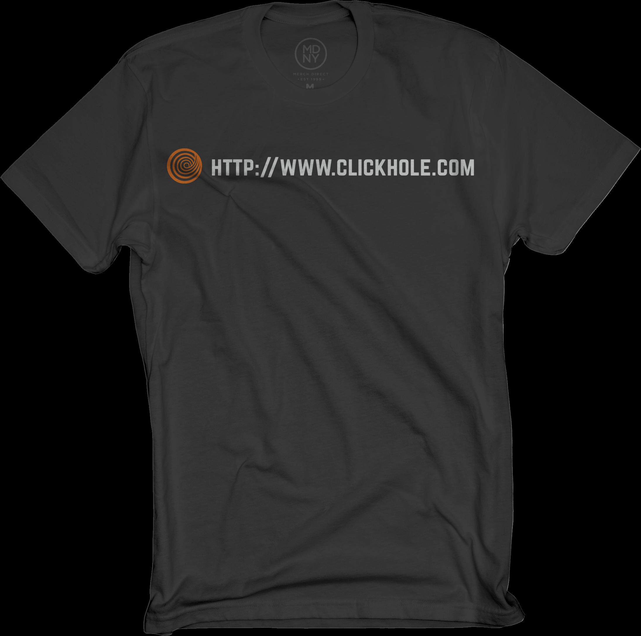 ClickHole URL Shirt In Black