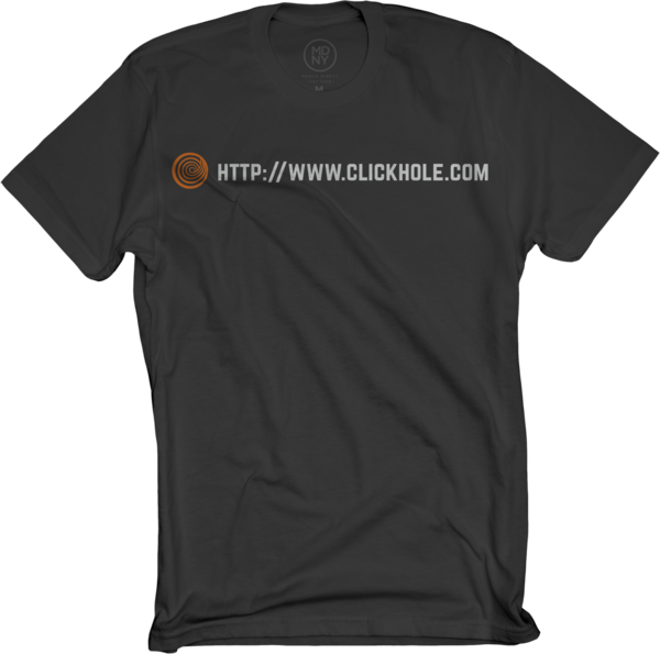 ClickHole URL Shirt In Black