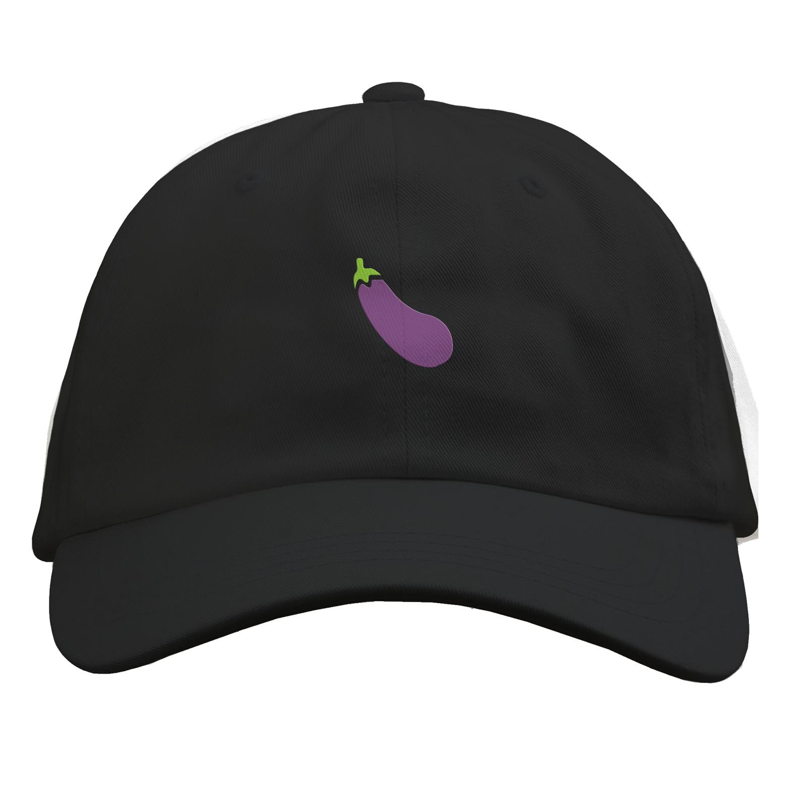 Eggplant Black Dad Hat