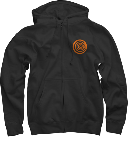 ClickHole Logo on Black Zip Up Hoodie