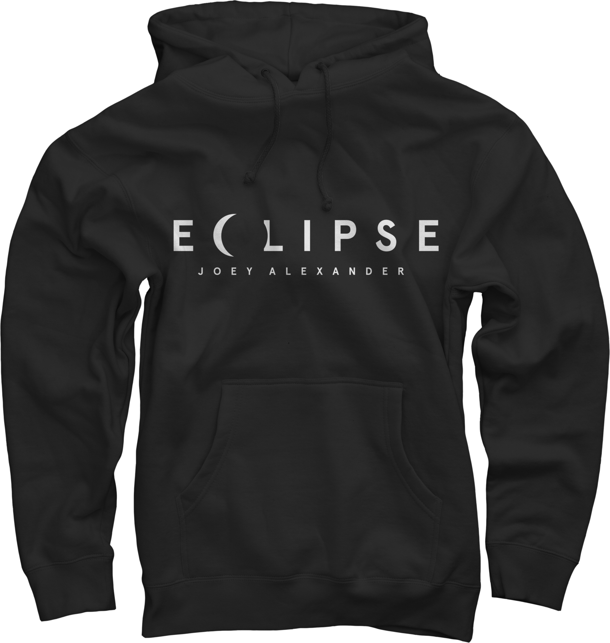 JOEY ALEXANDER - ECLIPSE (men's) BLACK HOODED PULLOVER
