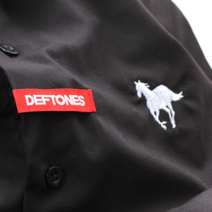White Pony Black Button Up