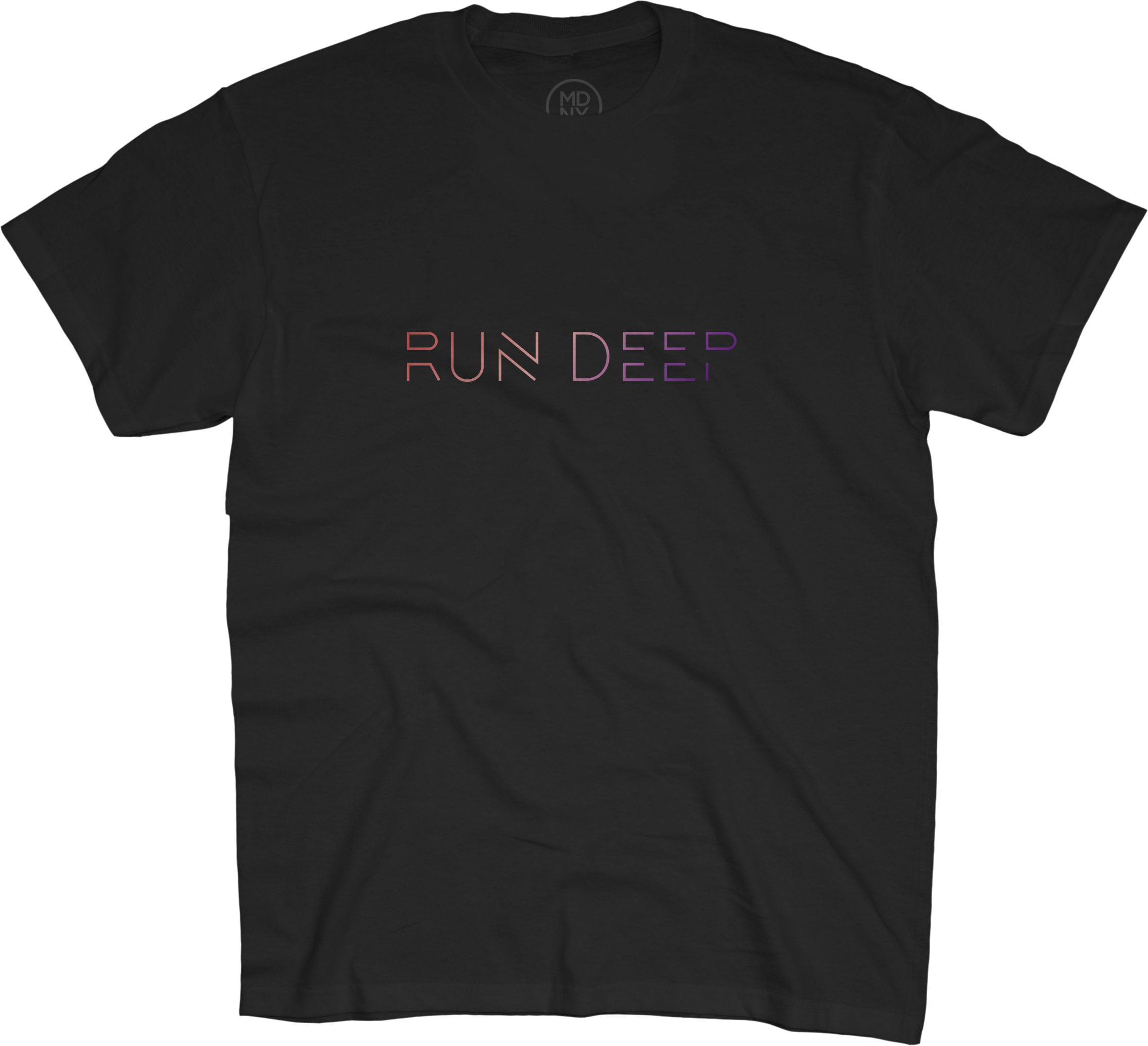 RUN DEEP UNISEX T-SHIRT, BLACK