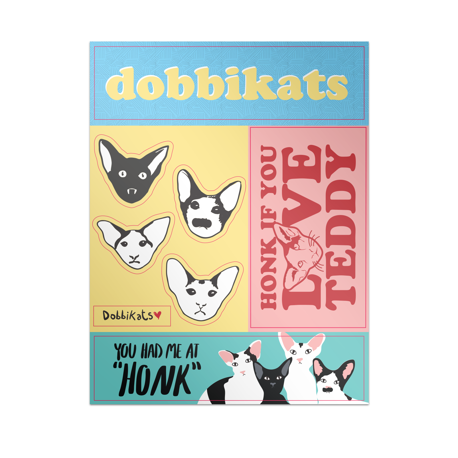 Dobbikats - Sticker Sheet