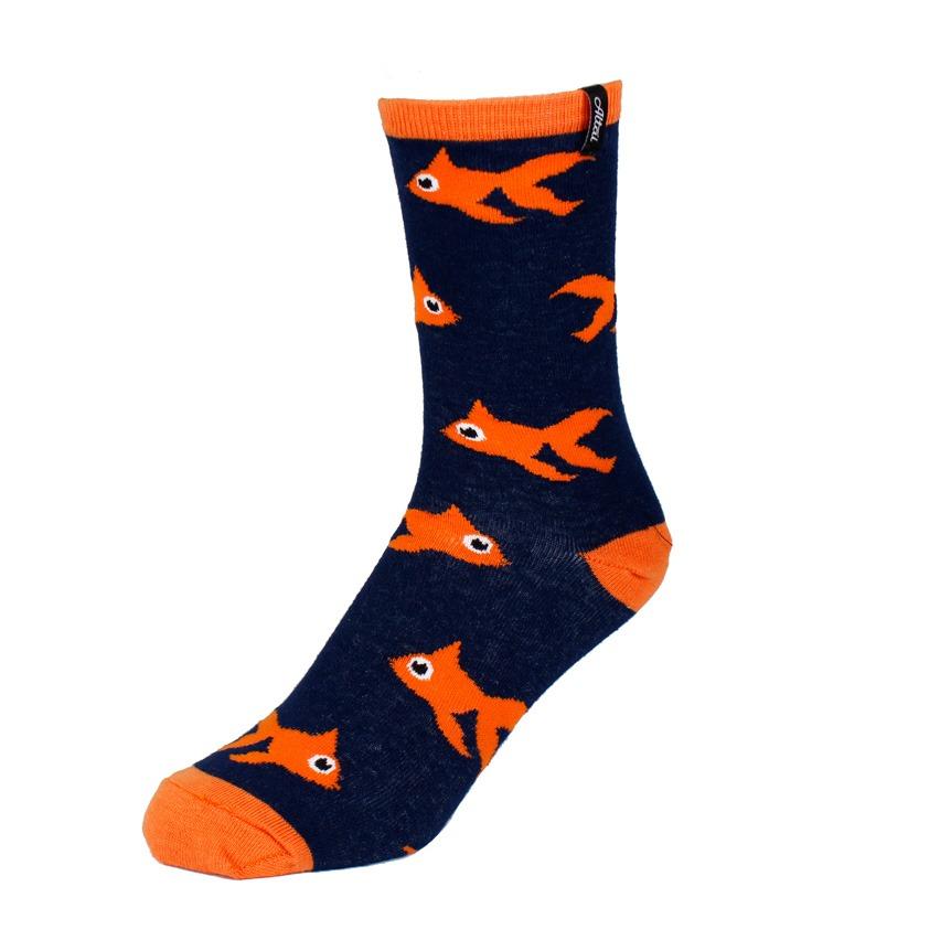 Blue Blinky Socks