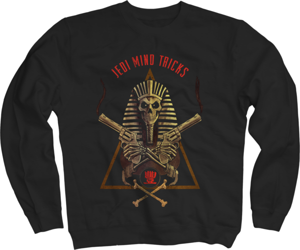 Pharaoh Salute on Black Crewneck