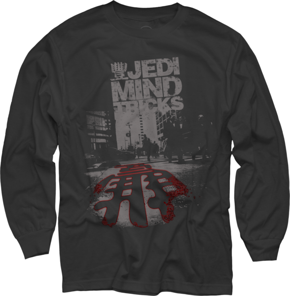 City Streets on Black Long Sleeve