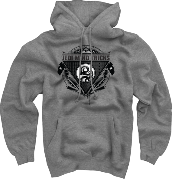 Serpent Hoodie on Heather Grey