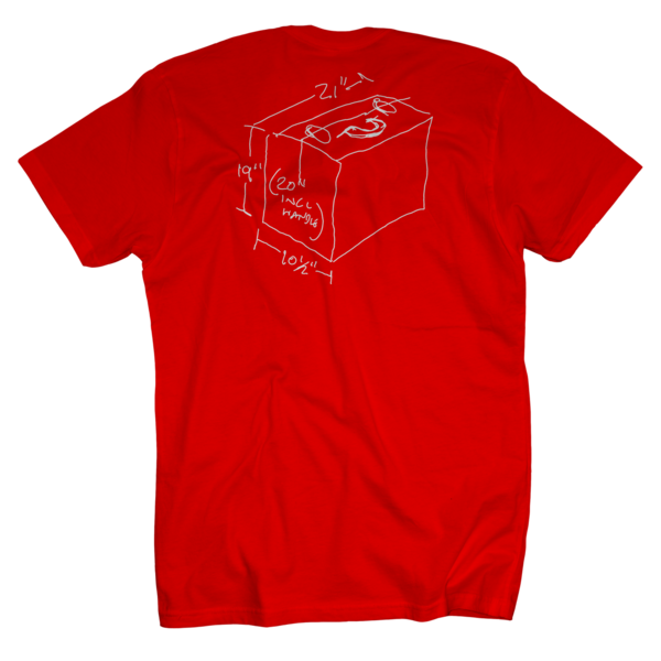 Lincoln Vinyl + Red Accordion T-Shirt