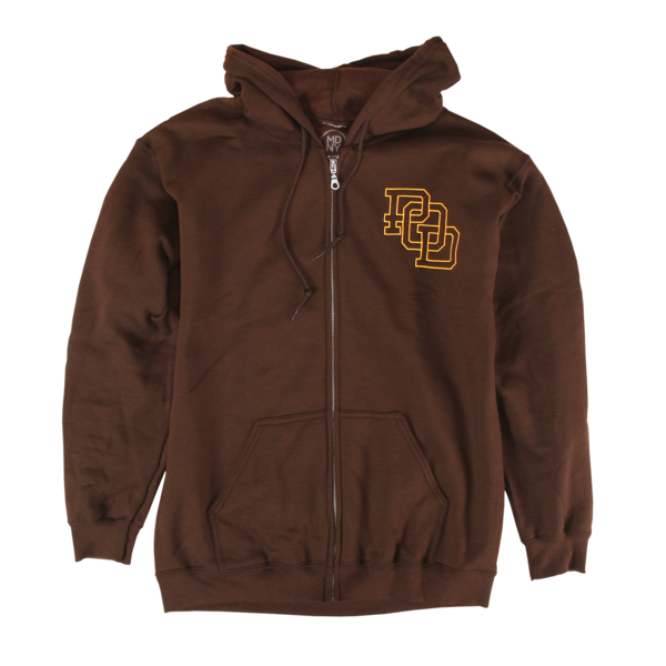 Reaper on Brown Zip-Up