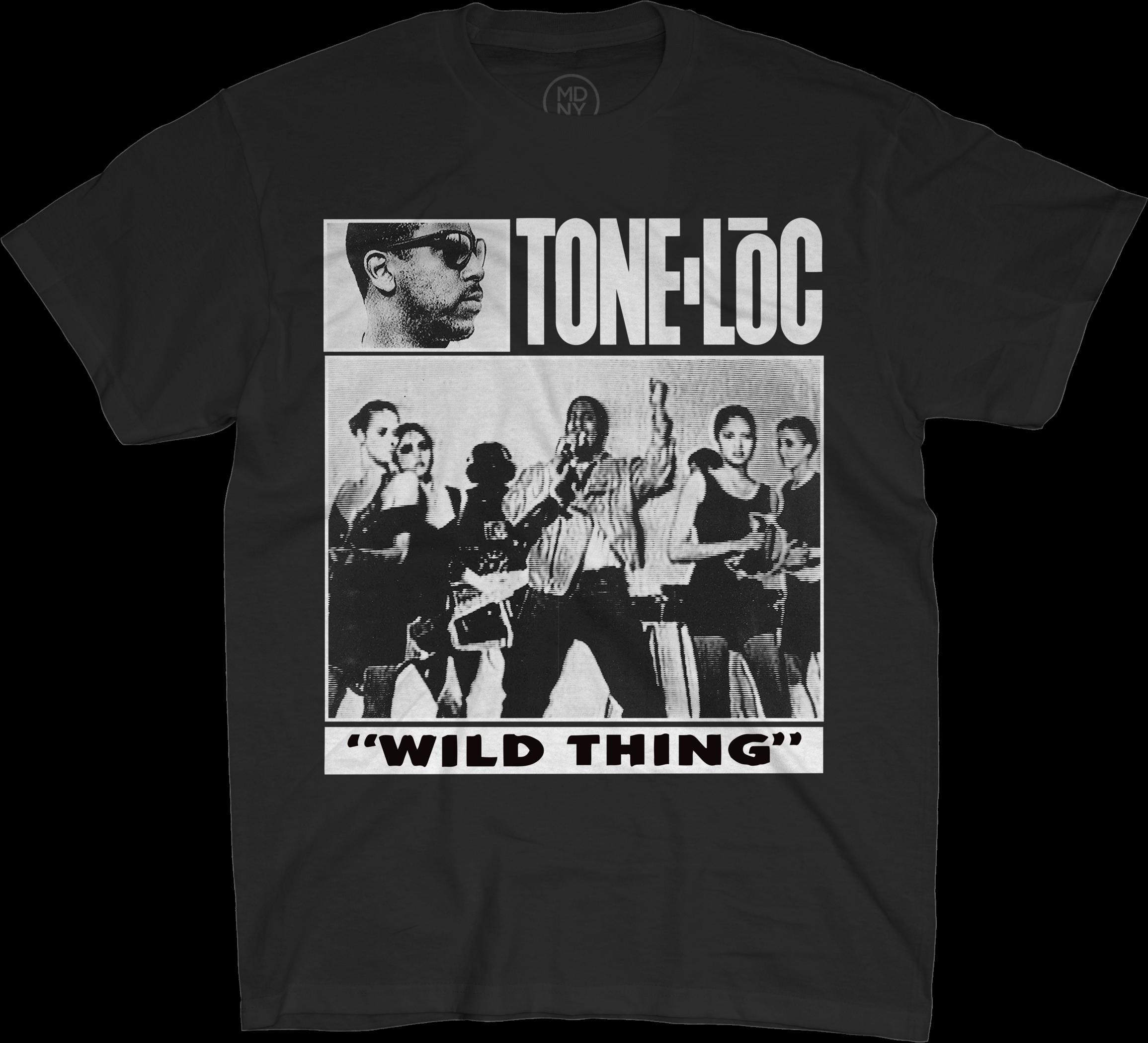 Wild Thing On Black T-Shirt