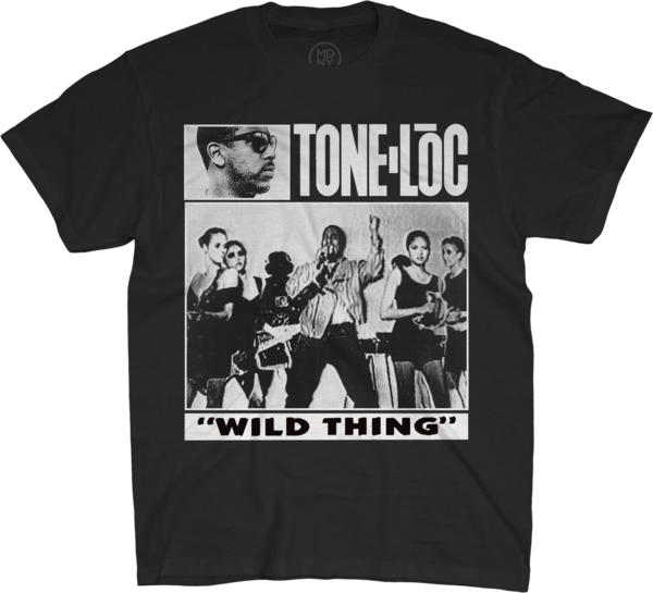 Wild Thing On Black T-Shirt