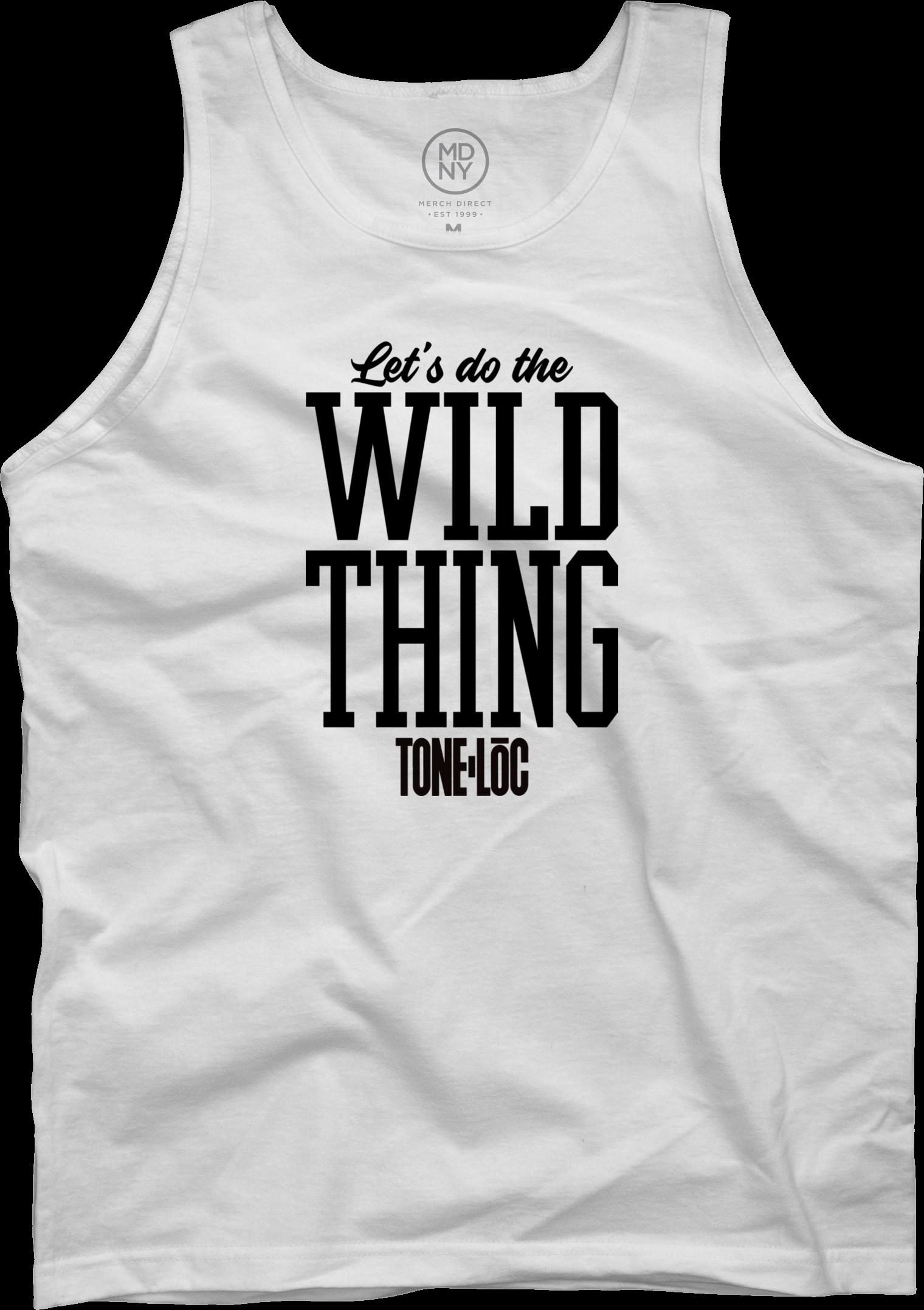 Wild thing On White Tank Top